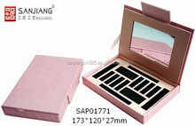 empty pu leather beauty cosmetic cream case and box