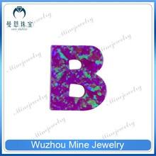 man-made letter B shape opal gems dark rose red multi-color rounded red gemstones names