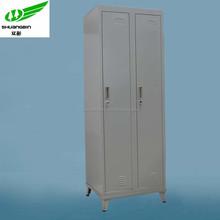Powder coating 2 door gray metal clothes locker