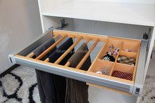 wooden combination trousers rack classify box