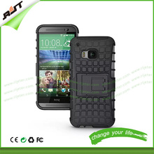 2015 new arrival Dual Layer Tough Rugged Kickstand Hybrid Armor Heavy Duty Shockproof Case for HTC