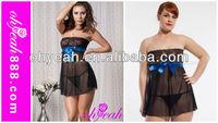 2015 Fashion new arrival sexy babydoll lingerie M,XL,2XL,3XL three colors