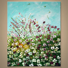 Simple Flower Art Painting For Decor In Discount Price