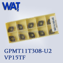 Mitsubishi Solid Carbide Inserts GPMT11T308-U2 VP15TF