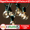 UL approved 8M 25 clear bulb G40 Globe outdoor christmas decorate light led christmas fireworks light