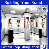 shop cosmetic design makeup store shelf perfume kiosk