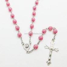 cross beads catholic rosary necklace cu crucifix