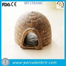 Hollow design classical decorative Stoneware Fish Tank Ornament