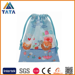 TATA Christmas Promotion Women Backpack Silk Drawstring Bag