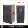 New Launched 15 Inch Powered Wooden Sound Speaker Box ST-15A