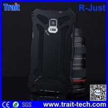 R-Just Water/Dirt/ Shock/ Proof Hybrid Silcone+Metal Aluminum Waterproof Case for Samsung Galaxy Note 4 N910