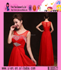 2015 Ladies Evening Dress Best Western Dresses Wholesale Red Sexy Formal Beaded Evening Dress