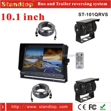 10.1 inch car reversing dual cameras kit for heavy vehicle