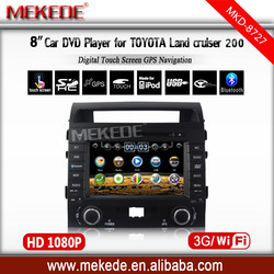 """HD 2 din 8"""" Car DVD Player for Toyota LAND CRUISER 200 2008-2010 With GPS 3G/WIFI BT IPOD TV Radio"""