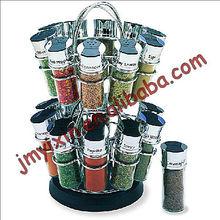cocina de cromo de metal flor 20 aromatizantes jar titular de dos niveles