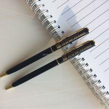 smaller metal twist pen top printing logo pen, make in china pen, slim ballpoint pen