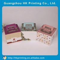 luxury custom birthday cake paper box with handle