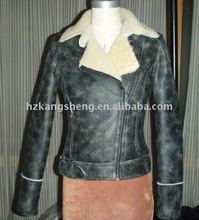 2012 100% GUARANTEED LADIES DOUBLE FACE SHEARING JACKET,Shearing Lamb Double-Face Fur COAT,Toscana skins shearing coat