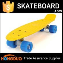 Yellow 22 inch penny skate longboard