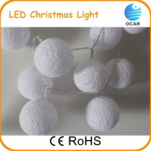 2016 new year led christmas light balls cotton ball light