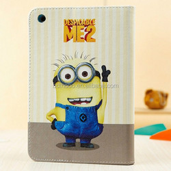 2015 new products fancy case for ipad mini minion case