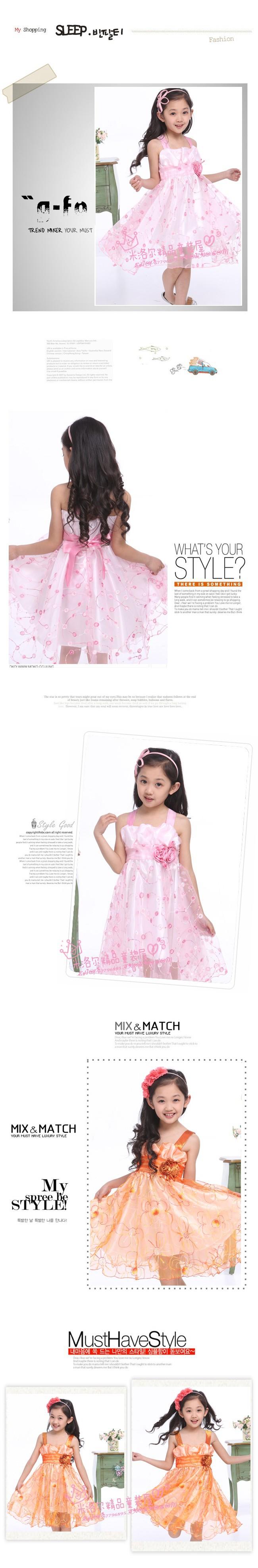 Детская одежда новое летнее платье принцессы платье девочек детей