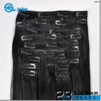 Most Fashion Private Label Top Quality No Shedding No Tangle 100% Human Hair extension clip on