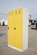 Metal Stainless Steel Double Door Clothing Lockers/Wardrobe with RFID Locks and Mirror