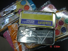 Cheap pencil case with rular and pencil compass