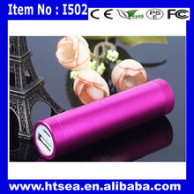 battery floating charg ( pro box ) colorful mini portable lipstick power bank charger 2600mah