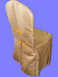 White Color Poly Jacquard Damask Chair Cover/wedding banquet chair cover/jacquard chair cover