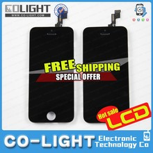 2015 Free shipping for Mobile Phone Parts/for iPhone 5 Parts/Accessories for lcd iPhone 5 with 12 months guarantee