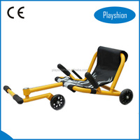 Folding wave roller scooter / foot push scooter with three wheels