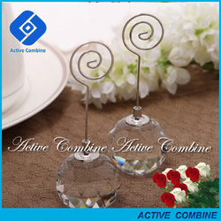 supper and dinner event celebrate decor crystal ball stand place card holder