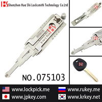 Hot sale best price for Lishi 2 in 1 auto decoder to open&read right slot key lock for BYD01R/075103