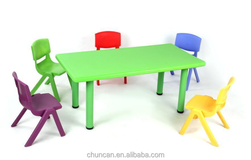 Tavoli regolabili nuovo materiale mobili di plastica per bambini bambino colorato rettangolare - Fermatovaglia per tavoli di plastica ...