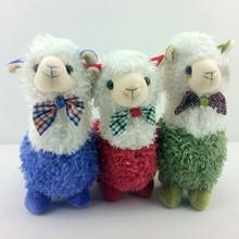 hotsale soft animal alpaca stuffed toy with bowtie