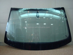 automobile front windshield glass