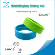 High quality closed-end rfid wristband silicon ring wristband