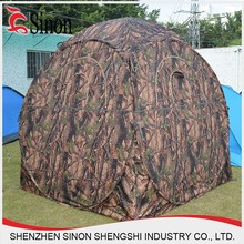 factory 190T Polyester Waterproof 1 2 Person Camouflage Hunting Tent