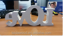 wedding decoration use white color wooden alphabet letter