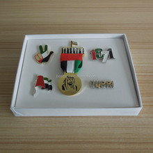 dongguan manufacturer UAE gifts box set with metal items for national day 44 celebration