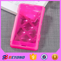 alibaba china tpu leather color changing cell phone case for sony E3