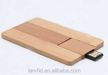 Promotional gift business wooden card usb2.0 flash memory stick pen thumb drive 8GB (Free Sample)