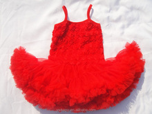 Lovely christmas dresses for baby girl with rosette