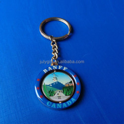 personalized Canada metal spinning fancy key rings