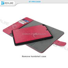 for ipad mini 3 pu leather book case tablet, for ipad mini 3 case with card slots, detachable for ipad mini 3 case