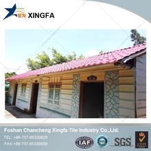 easy build sloping roof 2 storeyed modern bungalow house made in foshan from china