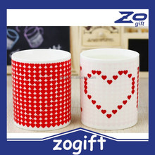 ZOGIFT Christmas gift- Love discolored mark cup ceramic cup