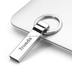 Free laser logo crystal USB 3.0 key chain usb flash drive 2tb
